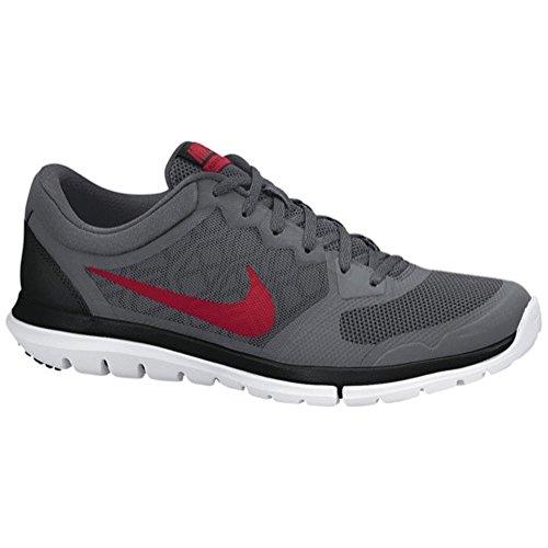 Nike Heren Flex 2015 Loopschoenen (6, Donker Grijs / Zwart / Wit / Gym Rood)