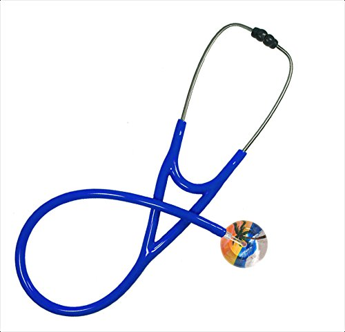 Stethoscope - Clinical Grade - Professional - Single Adult - Palm Tree Beach Design By Ultrascope