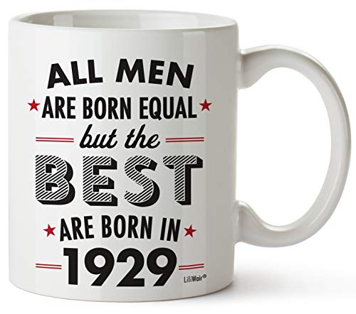 90th Birthday Gifts For Ninety Years Old Men Gift Mugs Happy Funny 90 Mens Man Best Friend 1929 Male Mug Unique Ideas 29 Wife Gag Dad Cute Girls Guys Good -
