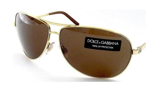 b5f77478bebf Image Unavailable. Image not available for. Colour  Authentic New Dolce   Gabbana  Dg 2011 034 73 Sunglasses Brown Lens   Gold Frame