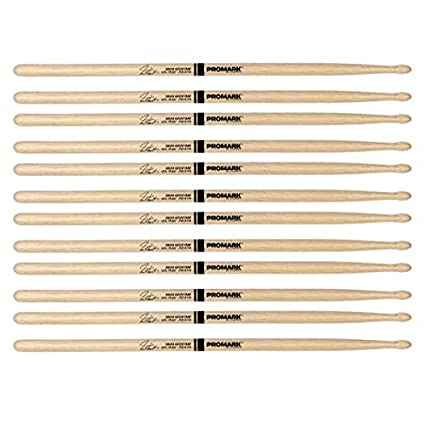 6 Pairs ProMark Shira Kashi Oak 747 Neil Peart Wood Tip Drum Sticks PW747W
