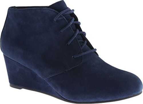 Becca Vionic Navy lace wedge up elevate donna rwPY8pxqEY