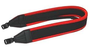 Maxsima - Cámara de neopreno correa para el cuello, Rojo / Negro para Nikon D7000 D3000 D3100 D3200 D5000 D5100 D90 D60 D40 D300 D300S