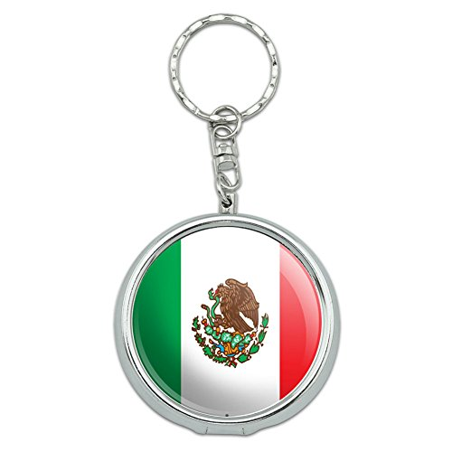 Graphics and More Portable Travel Size Pocket Purse Ashtray Keychain Country National Flag L-N - Mexico Mexican Flag