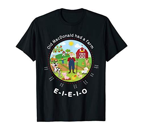 Old MacDonald had a farm English Nursery Rhyme Theme T-Shirt