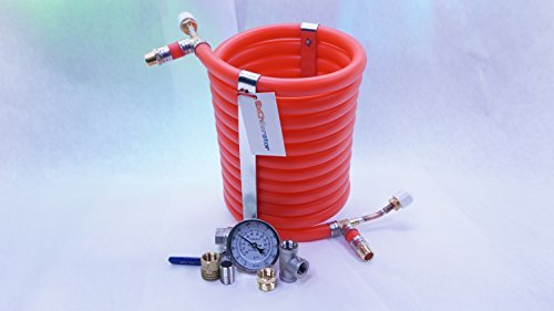 Exchilerator Counterflow Wort Chiller for Homebrewing Beer - Faster Than Copper Immersion Chiller - Guaranteed Cold Break