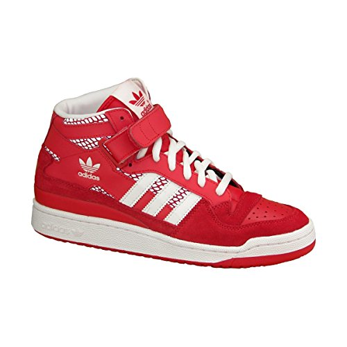 Adidas Mens Forum Mid Rs Sneaker Rosso / Bianco (9)
