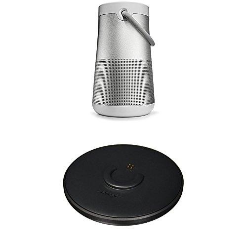 Bose SoundLink Revolve+ Portable & Long-Lasting Bluetooth 360 Speaker, Lux Gray + Charging Cradle