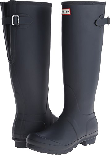 Hunter Women's Original Back Adjustable Rain Boots Navy 5 M US M