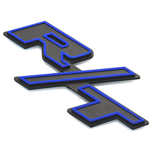 Aimoll 1pcs R/T RT Side Fender Trunk Hatch Deck Lid Boot Emblem Badge Sticker for Dodge Challenger Charger Ram 1500 Jeep Grand Cherokee (Blue Edge) ()