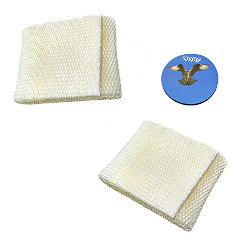 HQRP 2-pack Humidifier Wick Filter for Kenmore 14906 EF1, Emerson MoistAir MAF1 Replacement, 42-14906 / 32-14906 + HQRP Coaster (Best Air Humidifier Filter Ef1)