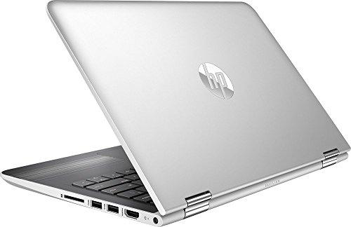"2017 HP Pavilion X360 Premium Performance 2-in-1 11.6"" IPS Touchscreen Laptop, Quad Core Intel Pentium Processor, 4GB RAM, 500GB HDD, B&O Play Audio, HDMI, 802.11ac, Webcam, No DVD, Windows 10-Silver"