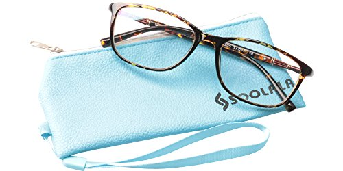 SOOLALA Lightweight TR90 Full Frame Oversized Clear Lens Eye