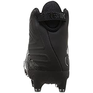 adidas Originals Men's Freak X Carbon Mid Football Shoe, Black/Black/Black, 9.5 Medium US