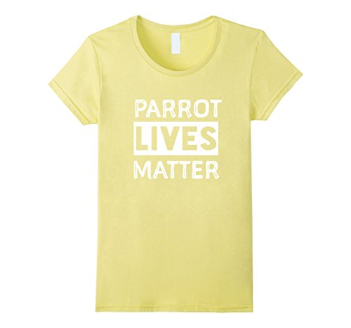 [Women's Parrot Lives Matter Bird Shirts  Small Lemon] (Parrot Costume Female)
