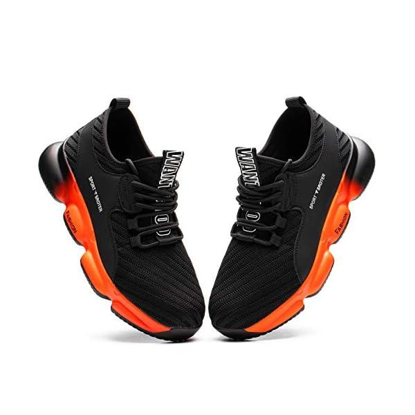 SROTER Chaussures de sécurité Homme Femmes Embout Acier Protection Chaussures de Travail Légèr Basket Securite…