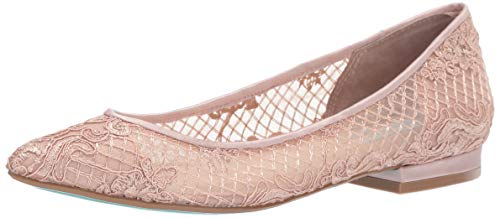 Betsey Johnson Wedding - Blue by Betsey Johnson Women's SB-Lacey Ballet Flat, Pale Nude, 9.5 M US
