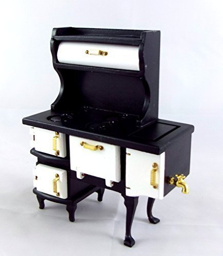 Dollhouse Miniature Kitchen Furniture Pennsylvanian Dutch Oven Stove Cooker (Stove Dollhouse Kitchen)