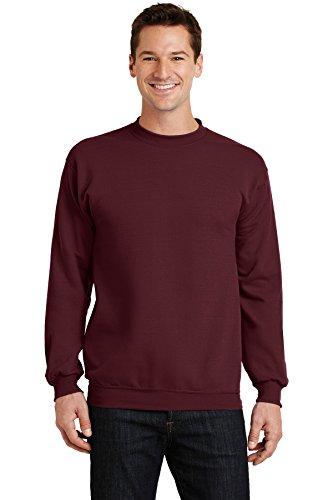Port & Company Men's Classic Crewneck Sweatshirt M Maroon
