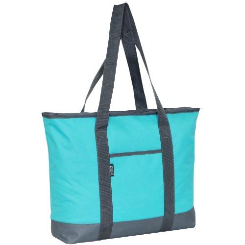 Everest Shopping Tote, Aqua Blue, One Size