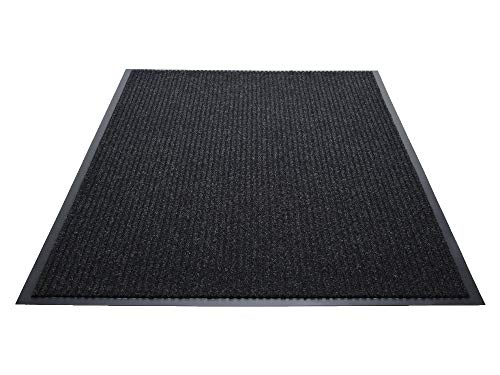 Guardian Golden Series Dual-Rib Indoor Wiper Floor Mat, Vinyl/Polypropylene, 3'x10', Charcoal