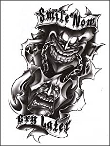 Amazon.com: Smile Now, Cry Later Temporaray Tattoo: Toys