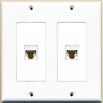 Amazon Com Riteav 1 Port Coax Cable Tv F Type 1 Port