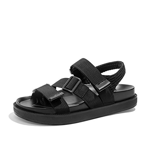 Fashion Simple YMFIE piatti 37 neri da Summer antiscivolo Comfort Sandali EU 37 Sandali Retro EU donna 1HxwqXR