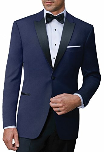 (Ike Behar S120's Luxury Navy Wool Fabric (44R))