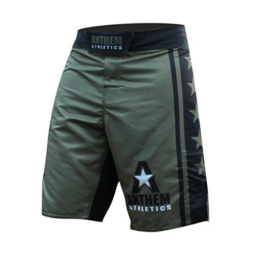 Anthem Athletics RESILIENCE MMA Shorts - Army & Black - 33""