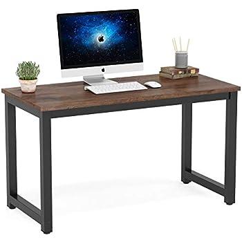 Amazon Com Dyh Vintage Computer Desk Wood And Metal