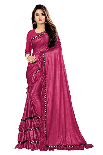 KFGROUP 여성의 라이크라 실크 일반 사리 인도 민족 드레스 웨딩 사리 블라우스 조각