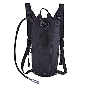 CVLIFE Hydration Pack with 3L Backpack Water Bladder and Adjustable Shoulder Strap for Hunting Climbing Running and Hiking (Black)