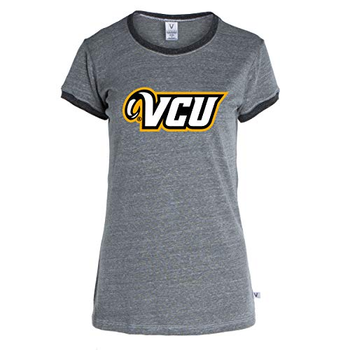 (Official NCAA VCU Rams - Women's Crew Neck Ringer Tee)