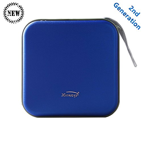 Second Generation 40 CD Case Stiff Material Hard CD/DVD Storage Container with New Double Sleeves for Your CD Album Road Trip Blue