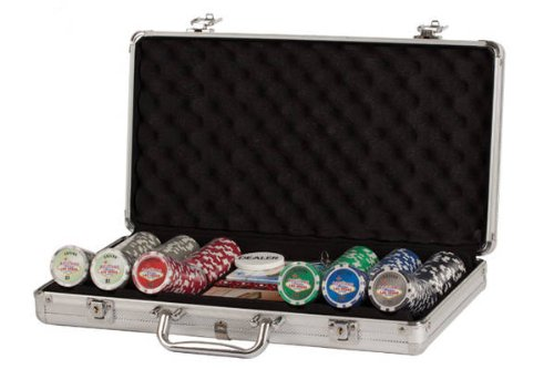 (Poker Set In Aluminum Case With 300 (11.5 Gram) Las Vegas Style Chips)
