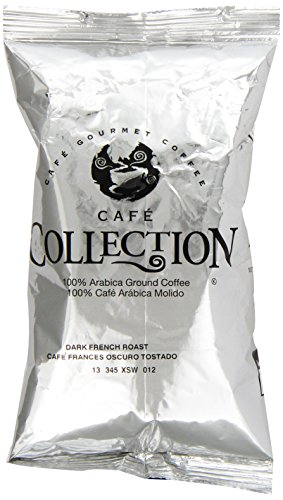 Cafe Collections Dark French Roast Coffee (2.25 oz Bags, Pack of 20) ()