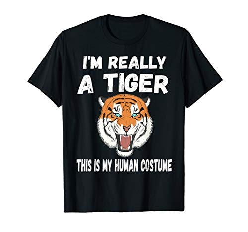 80's Wild Tiger shirt I'm Really A Tiger Funny tee ()