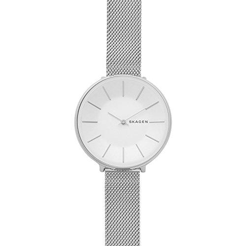 Ladies Mesh Skagen (Skagen Women's Karolina Japanese-Quartz Watch with Stainless-Steel Strap, Silver, 14 (Model: SKW2687))