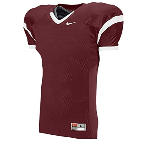 NIKE ADULT CORE PRACTICE JERSEY (MENS) (Maroon, Small) - Maroon Football Jersey