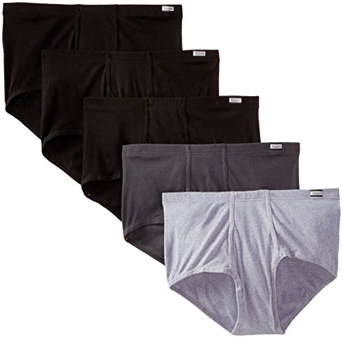 Hanes Men's 5-Pack Big Mid-Rise Comfortsoft Briefs, Dyed, XX-Large (Hanes Mens Underwear Mid Rise)