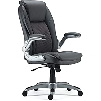 Staples Sorina Bonded Leather Chair Grey
