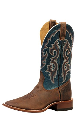 Bottes américaines - Rugged Country BO-0837-EEE (pied fort) - Homme - Cuir - marron/bleu