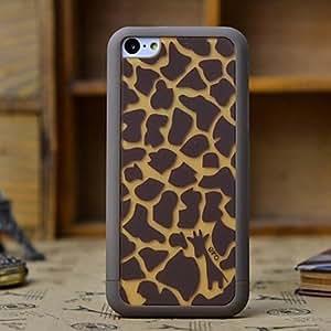 Giraffe Skin Pattern 3 in 1 Detachable Hard Case for iPhone 5C