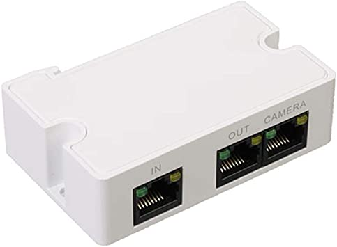 Over One Cat5//6 Cable IP Camera Powering 2 POE Devices IEEE 802.3af//at POE Extender LINOVISION Mini Passive 2 Port POE Switch Ethernet Splitter POE Repeater