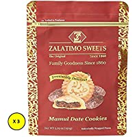 Zalatimo Sweets Mamul Date Cookies Pouch - 150 gm (Pack of 3)