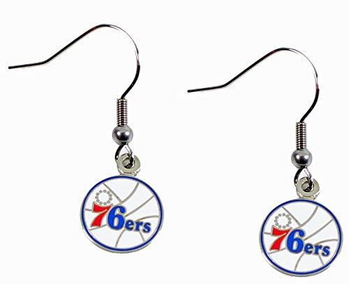 Philadelphia 76ers - NBA Team Logo Dangler Earrings ()