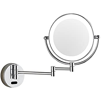 Amazon Com Lighted Hardwired 5x Make Up Mirror In A
