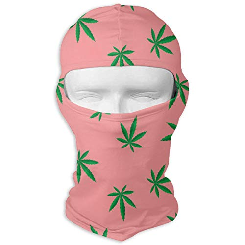 UV Protection Face Mask for Cycling Outdoor Sports Full Face Masks Marijuana Leaves Pink Balaclava Hood Skullies -