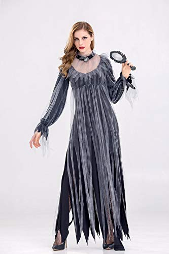 Mengjie Holloween Costume Vampire Ghost Bride Costume Masquerade Party Party, Black, L -